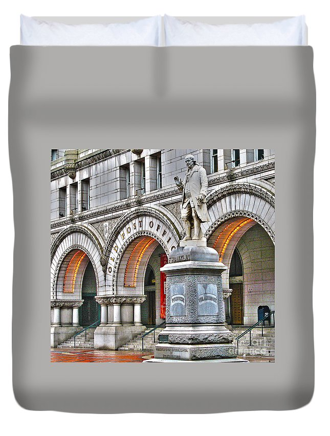 Old Post Office Pavillion Duvet Cover featuring the photograph Old Post Office Pavillion Washington Dc by Jack Schultz