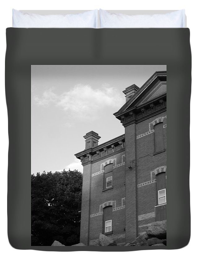 Old School House Duvet Cover featuring the photograph Old School House by Michele Nelson