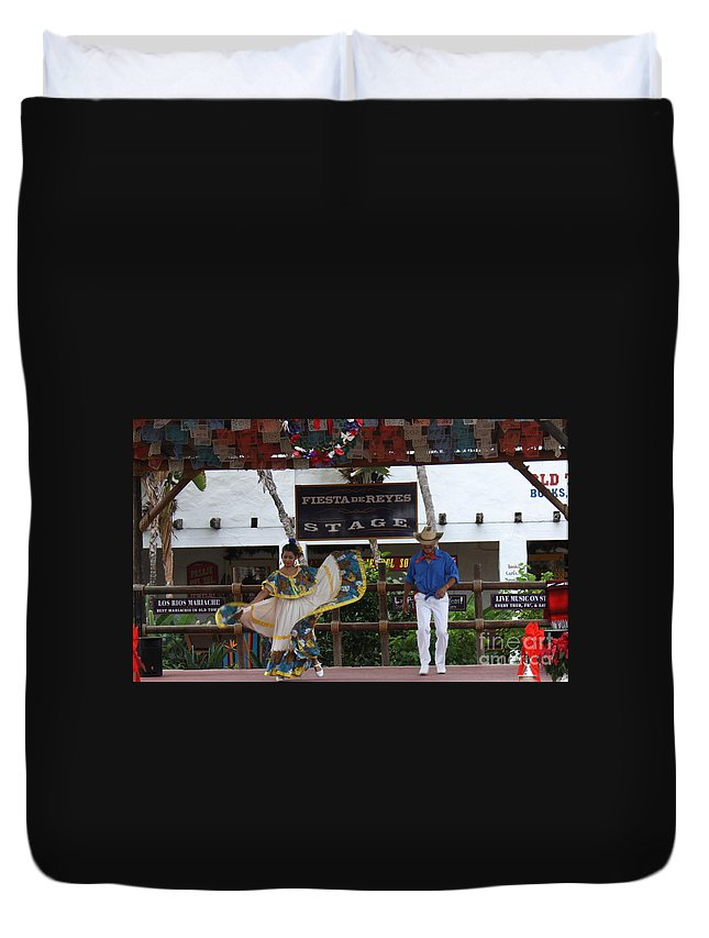 Old Town Duvet Cover featuring the photograph Old Towne San Diego Dancing by Tommy Anderson