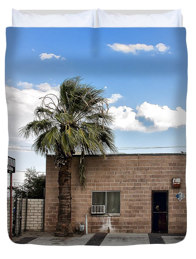 Palm Springs Duvet Cover featuring the photograph On Eugene Road by William Dey