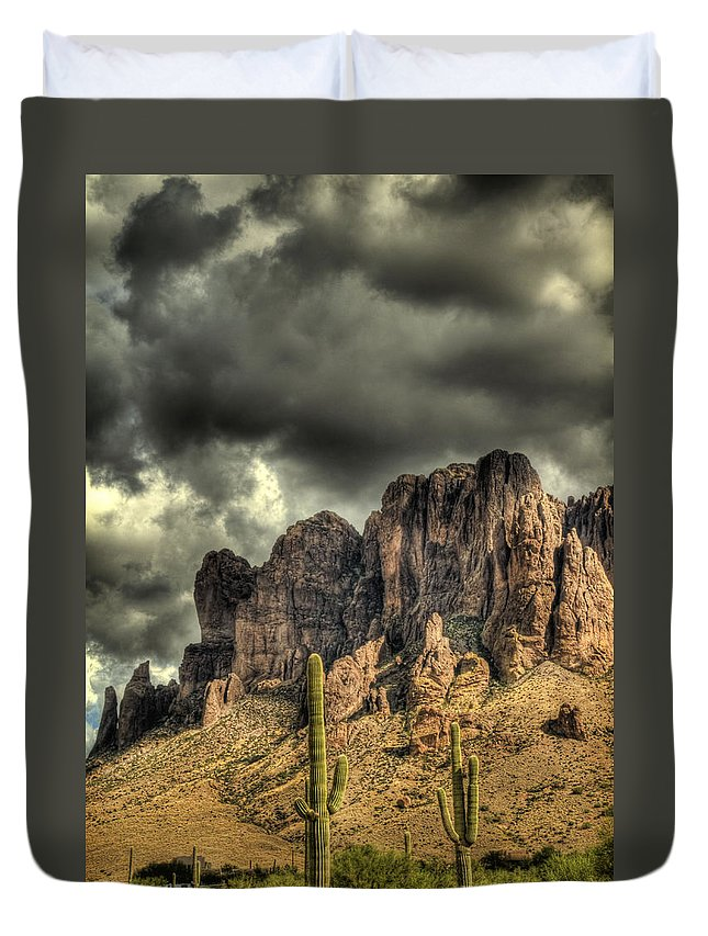 Arizona Duvet Cover featuring the photograph On The Mountain by Saija Lehtonen