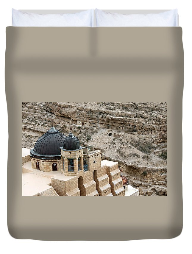 Mar Duvet Cover featuring the photograph On Top by Munir Alawi