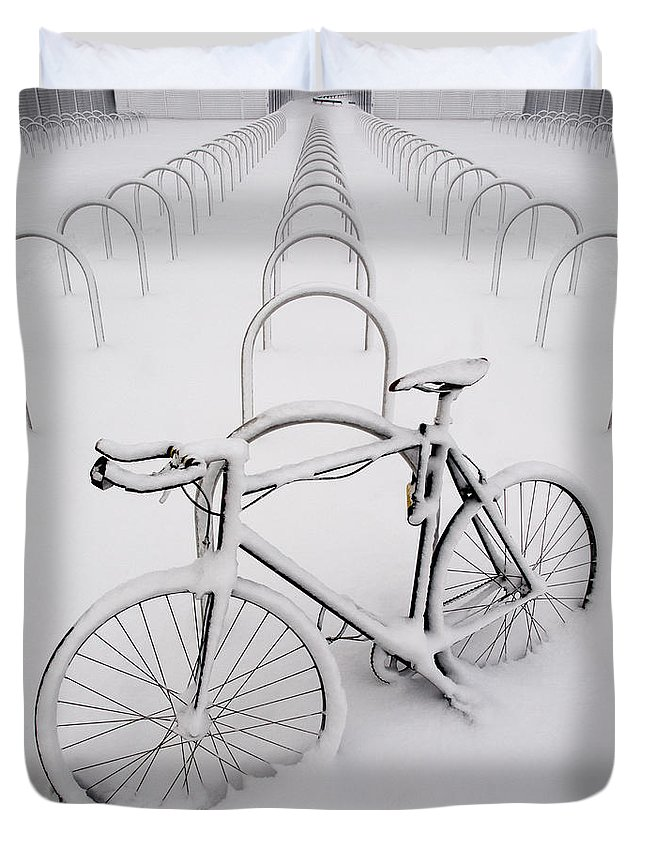 Bike Duvet Cover featuring the photograph On Your Bike by Andy Linden