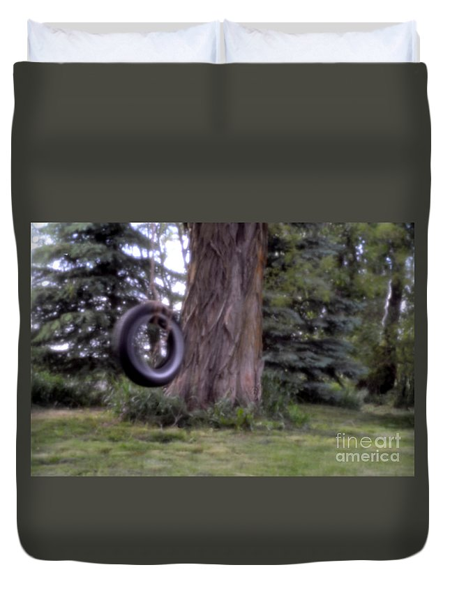 Digital Duvet Cover featuring the photograph Only A Memory Pin-hole Photo by Richard Ortolano