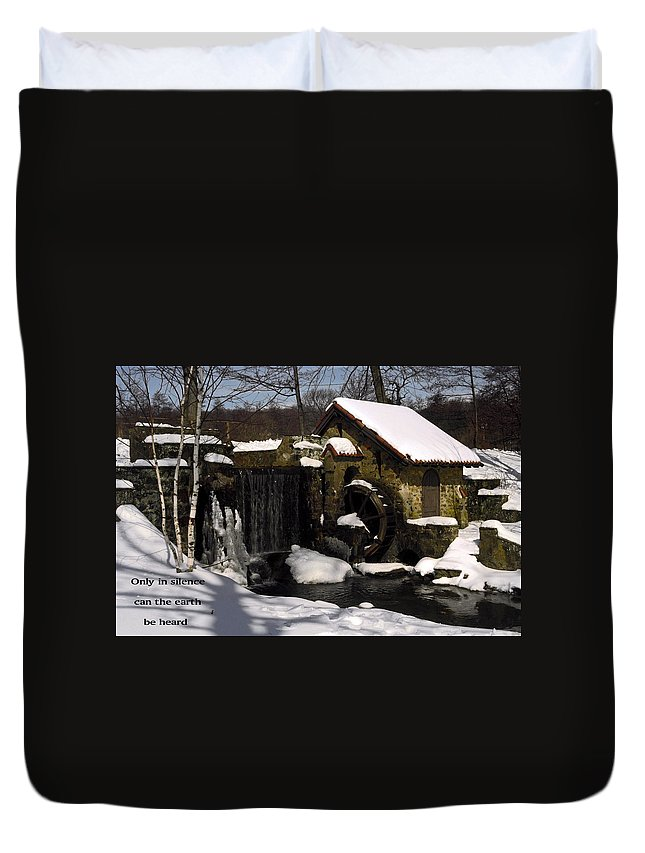 Stream Duvet Cover featuring the photograph Only In Silence by Sally Weigand