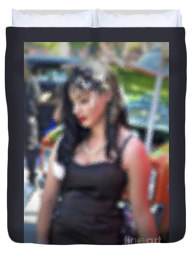 Woman Duvet Cover featuring the photograph Only Love by Gwyn Newcombe