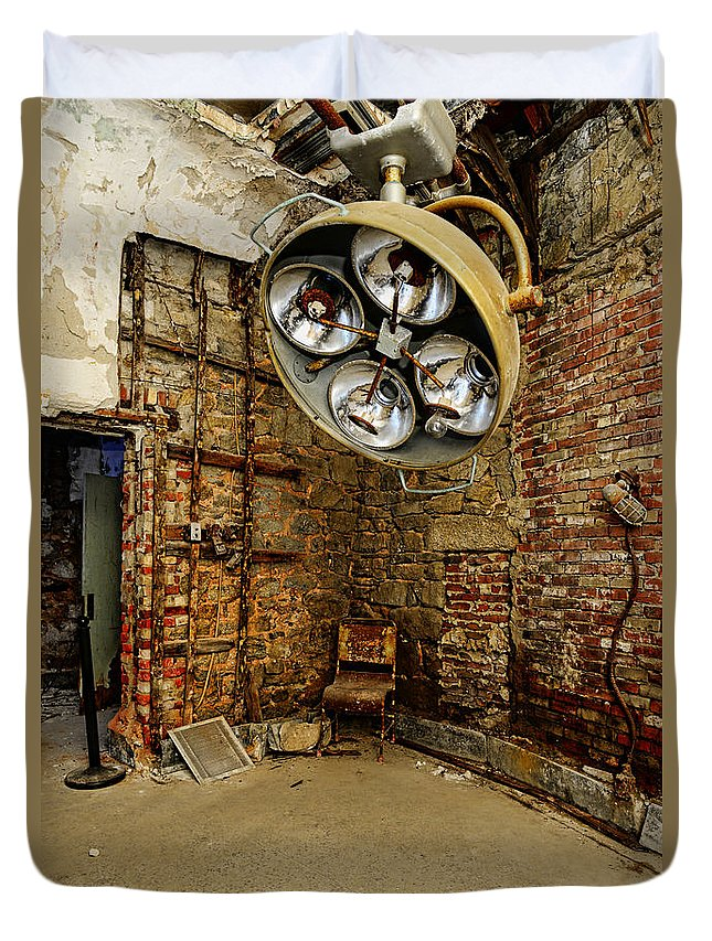 Operating Room - Eastern State Penitentiary Duvet Cover featuring the photograph Operating Room - Eastern State Penitentiary by Paul Ward