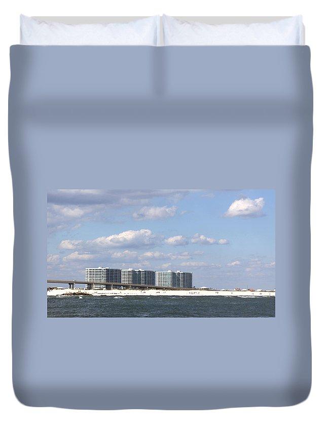 Orange Beach Duvet Cover featuring the photograph Orange Beach by Travis Truelove
