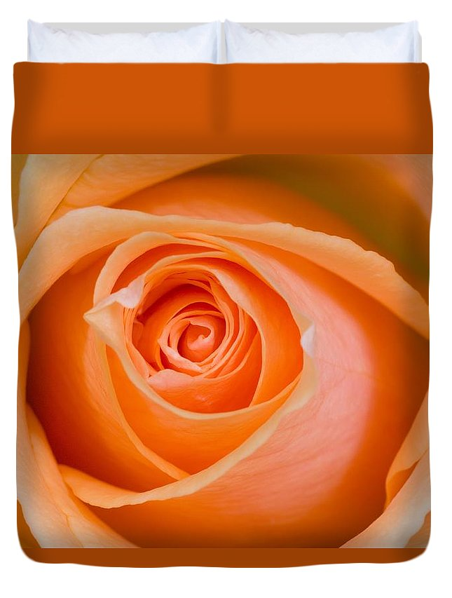 Close-up Duvet Cover featuring the photograph Orange Rose by Craig Tuttle