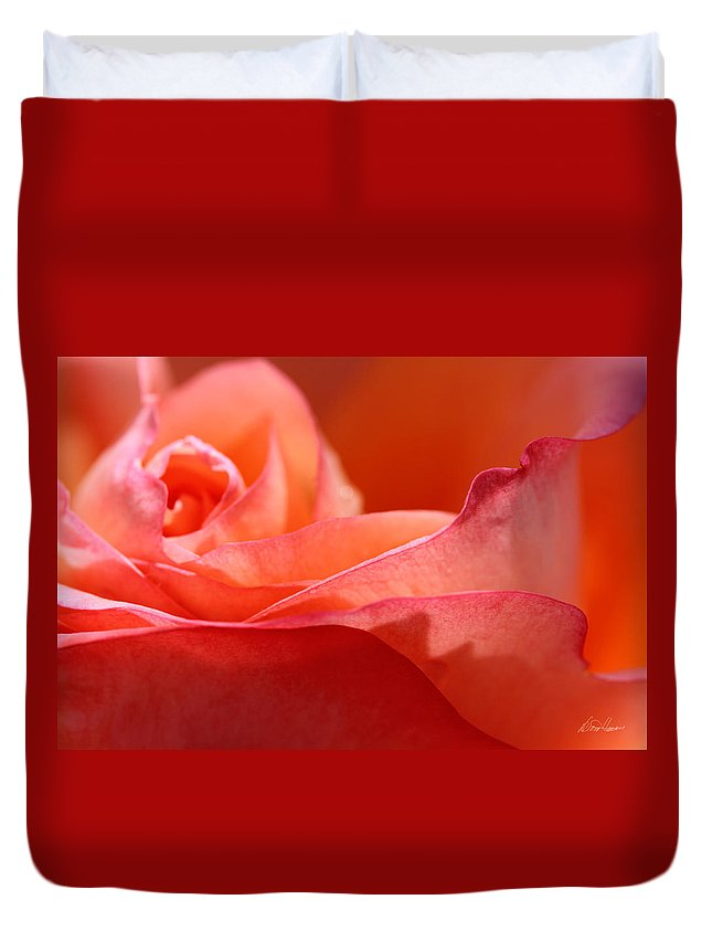 Orange Duvet Cover featuring the photograph Orange Sensation by Diana Haronis