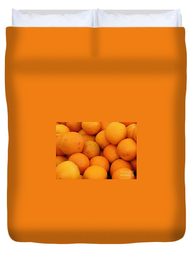 Oranges Duvet Cover featuring the photograph Oranges by Carol Groenen