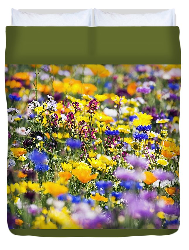 Wildflower Duvet Cover featuring the photograph Oregon Wildflowers by Craig Tuttle
