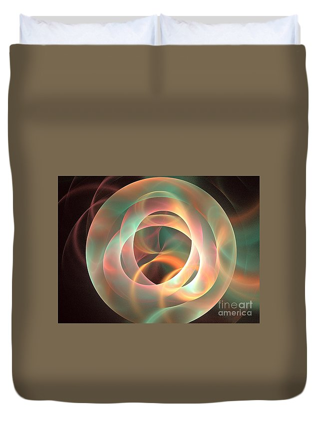 Apophysis Duvet Cover featuring the digital art Orthosie by Kim Sy Ok