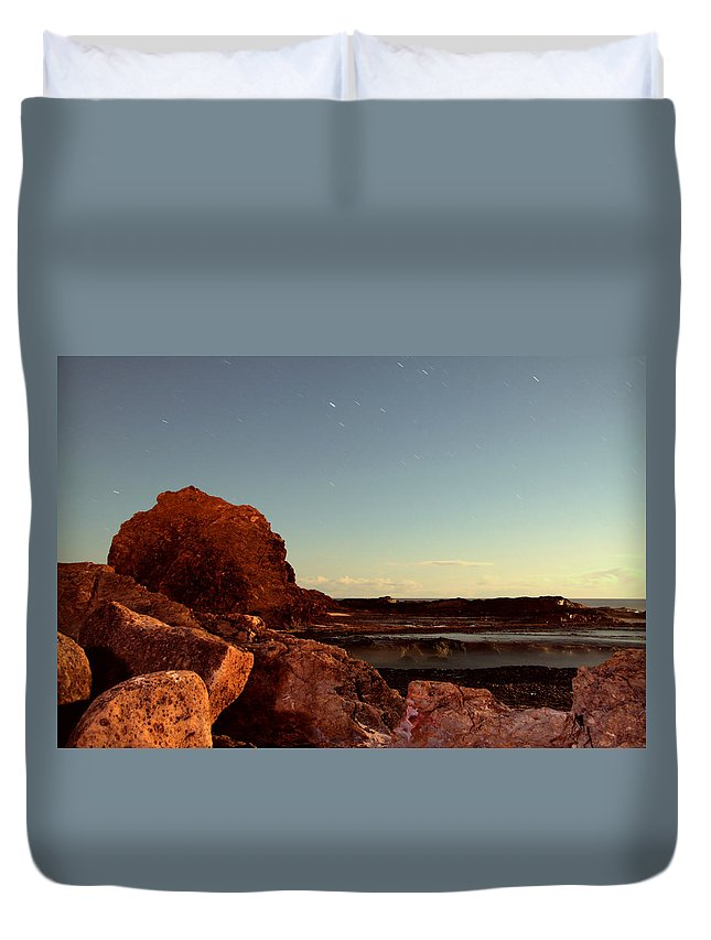 Beaches Duvet Cover featuring the photograph Other World This World by Rebecca Akporiaye