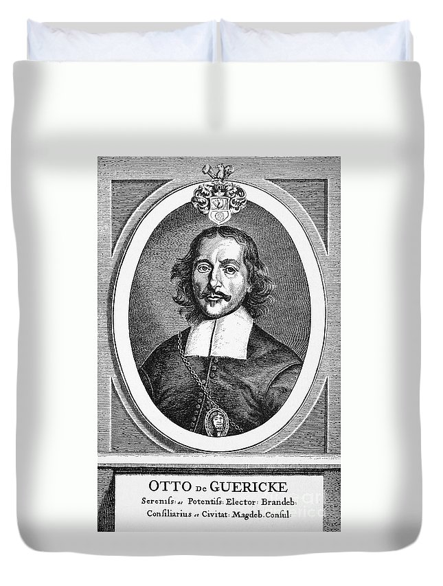 1672 Duvet Cover featuring the photograph Otto Von Guericke (1602-1686) by Granger