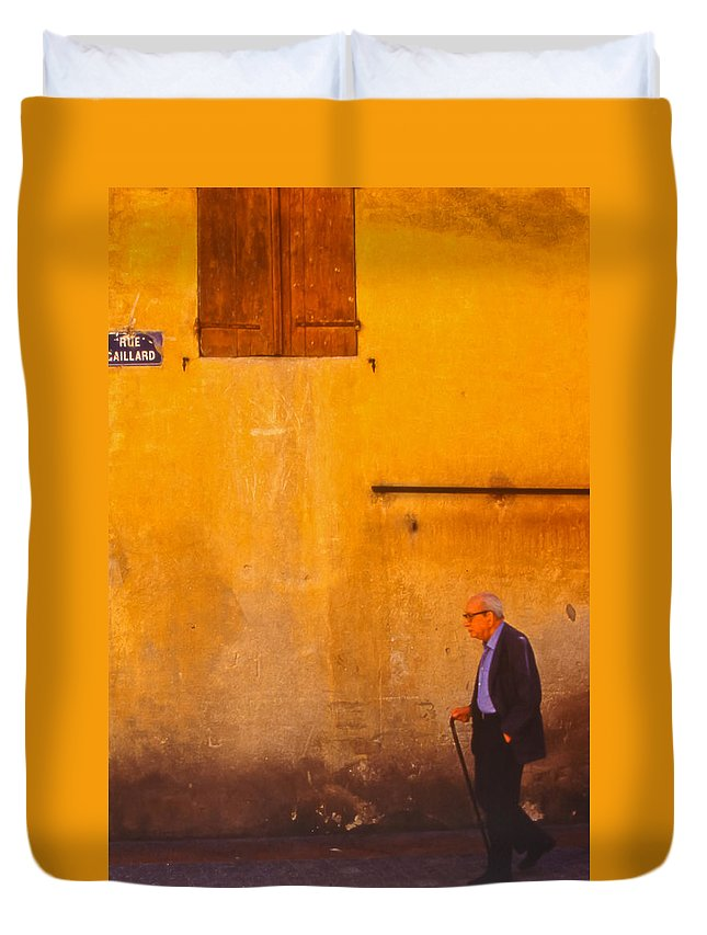 Man Duvet Cover featuring the photograph Out For A Stroll by Tom and Pat Cory