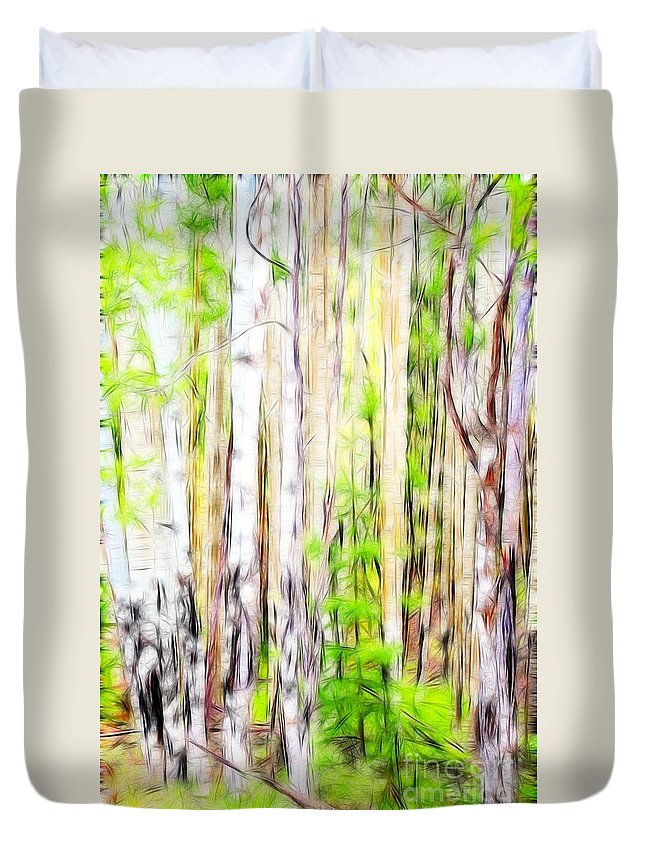 Fine Art Photography Duvet Cover featuring the photograph Out Of One Many Fractal by Donna Greene