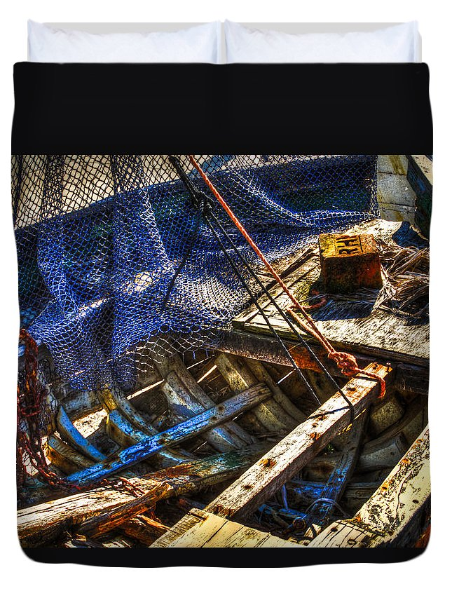 Fishing Duvet Cover featuring the photograph Out To Sea by Debra and Dave Vanderlaan