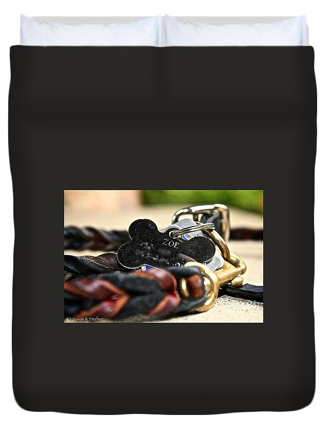 Dog Duvet Cover featuring the photograph Outfitted by Susan Herber