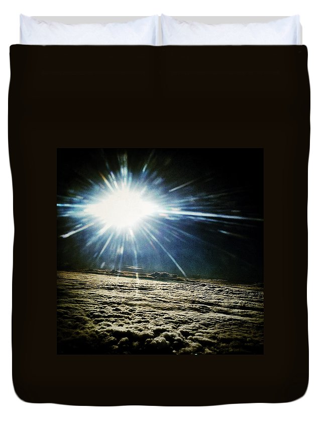 Clouds Duvet Cover featuring the photograph Over Ohio by Natasha Marco