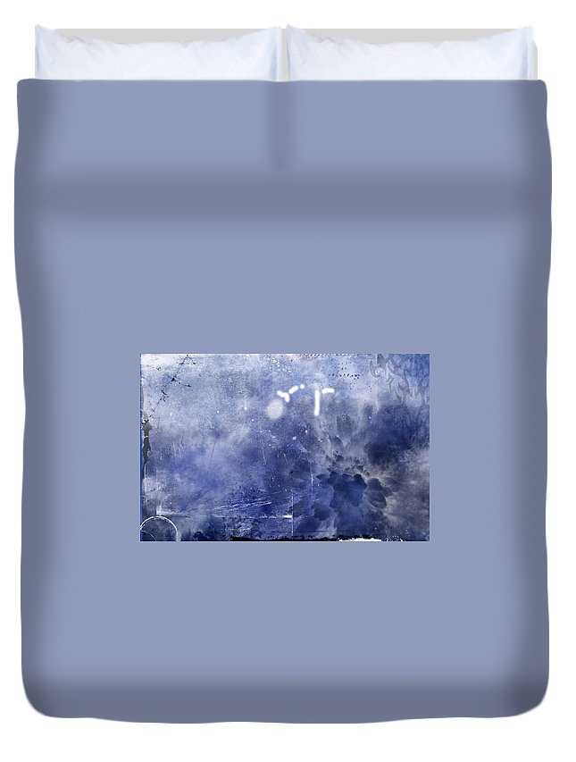 Pacific Duvet Cover featuring the painting Pacific Bloom by Christopher Gaston