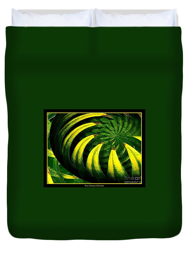 Palm Tree Duvet Cover featuring the photograph Palm Tree Abstract by Rose Santuci-Sofranko