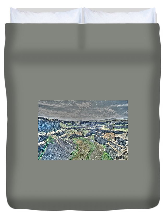 Desert Duvet Cover featuring the photograph Palouse River Canyon by One Rude Dawg Orcutt