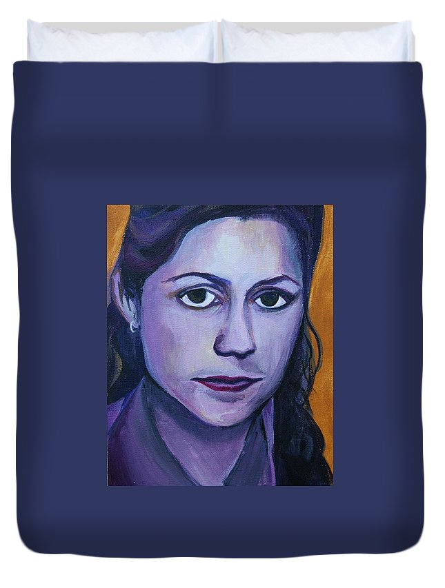 Pam Duvet Cover featuring the painting Pam by Kate Fortin