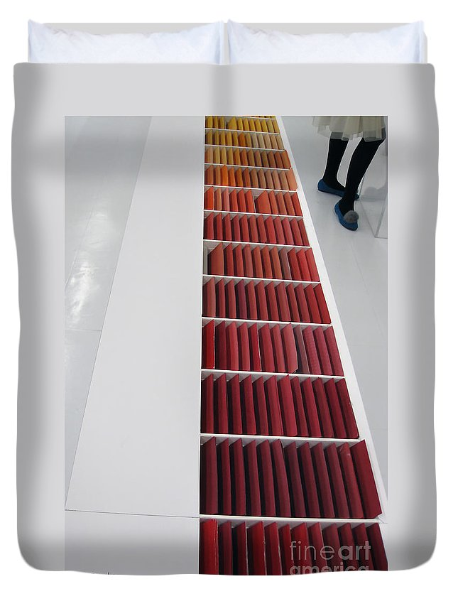 Paper Duvet Cover featuring the photograph Paper by Eena Bo