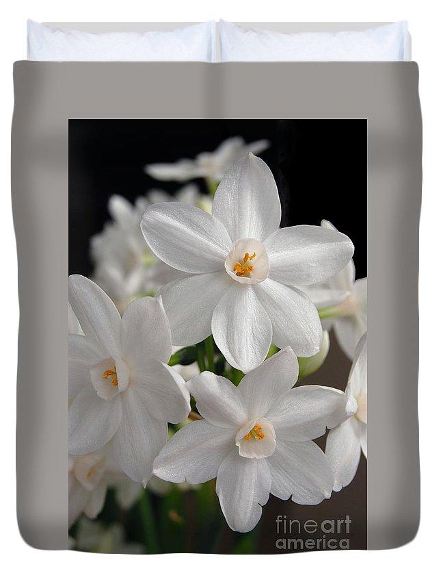 Paperwhite Narcissus Flower Duvet Cover for Sale by Eva Kaufman