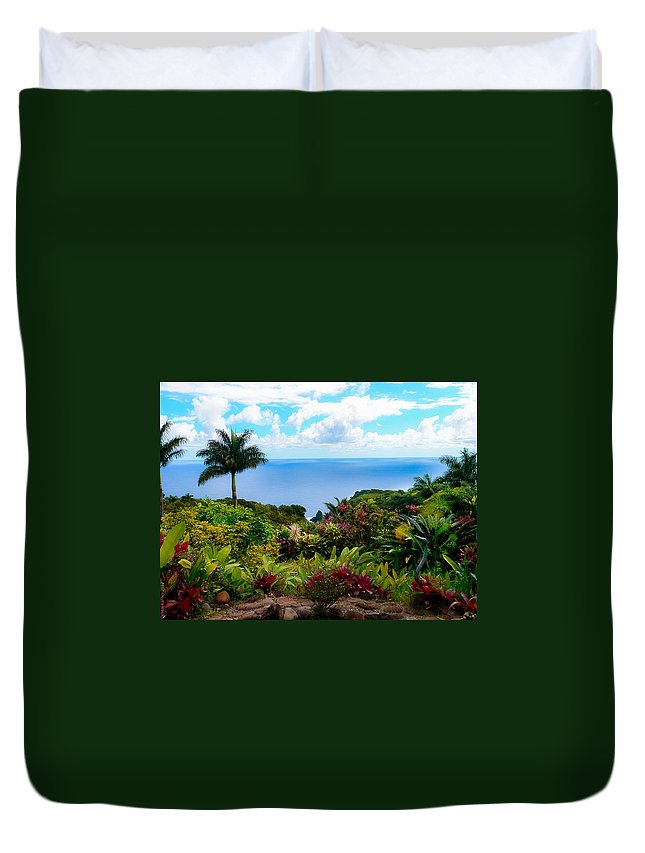 Maui Duvet Cover featuring the photograph Paradise Found by Debbie Karnes
