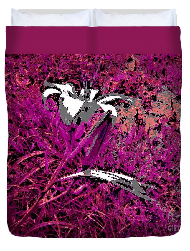 Flower Duvet Cover featuring the photograph Paradise by George Pedro