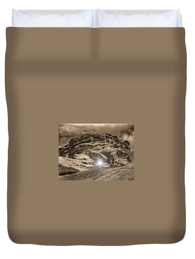 Rockies Duvet Cover featuring the photograph Paranormal Rockies by Merja Waters
