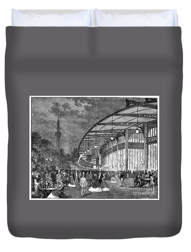1867 Duvet Cover featuring the photograph Paris: Exposition Of 1867 by Granger