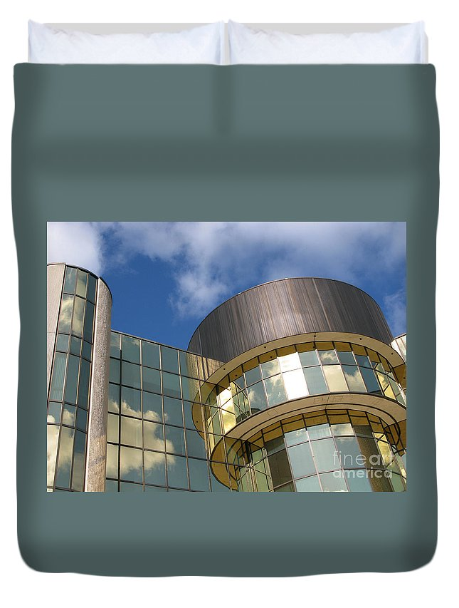 Clouds Duvet Cover featuring the photograph Partly Cloudy by Ann Horn