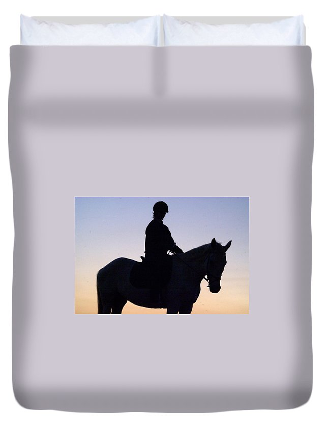 Horse Duvet Cover featuring the photograph Partners by Tracey Beer