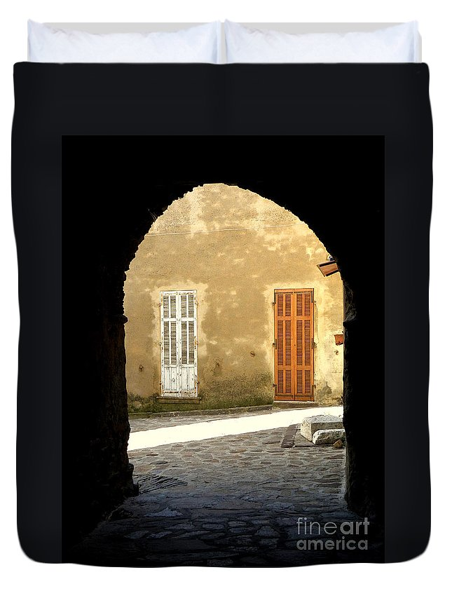 Passage Duvet Cover featuring the photograph Passage by Lainie Wrightson