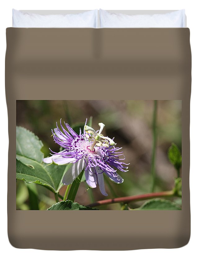 Passion Flower Duvet Cover featuring the photograph Passion Flower by Travis Truelove