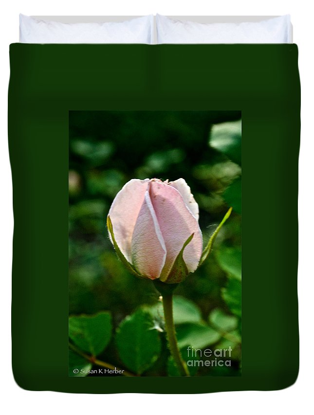 Plant Duvet Cover featuring the photograph Pastel Rose Petals by Susan Herber