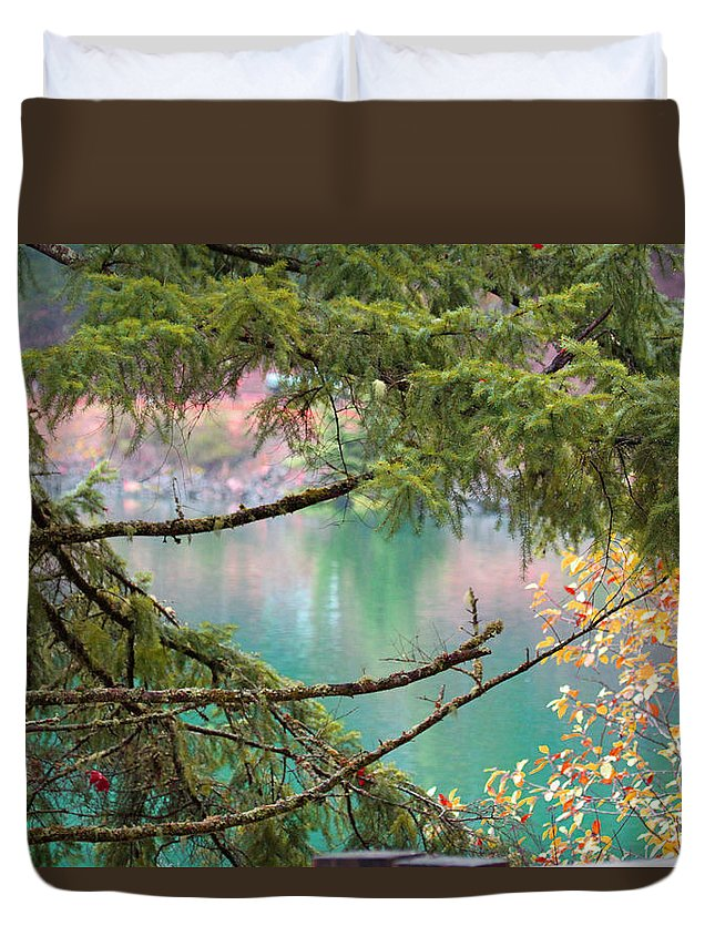 Lake Duvet Cover featuring the photograph Pastels Emphasized by Marie Jamieson
