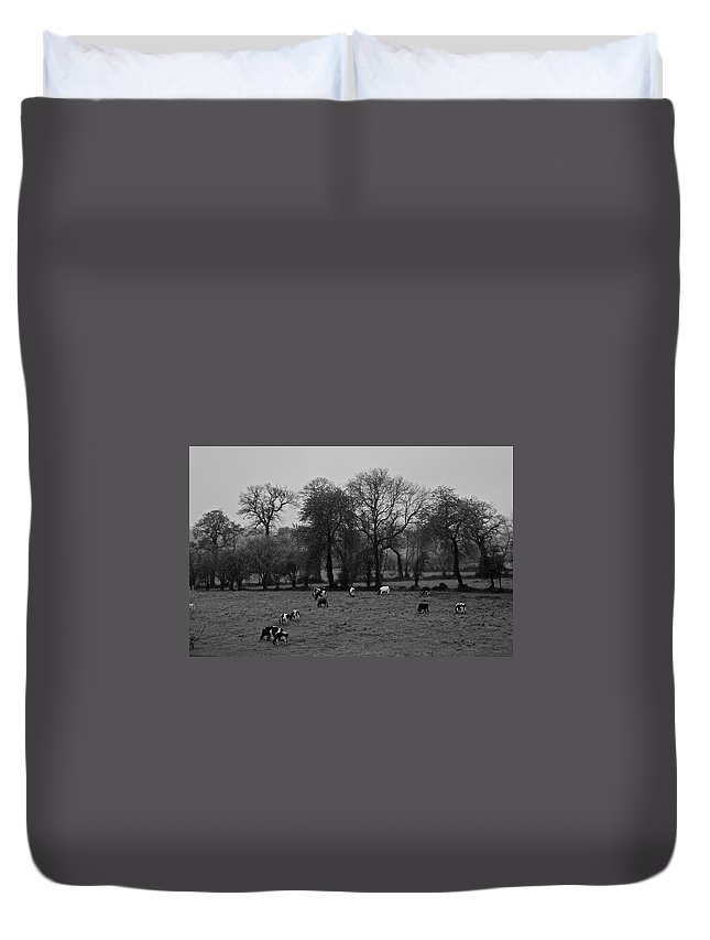 France Duvet Cover featuring the photograph Pastured by Eric Tressler