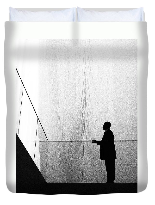 Patient Tension Duvet Cover featuring the photograph Patient Tension by Skip Hunt