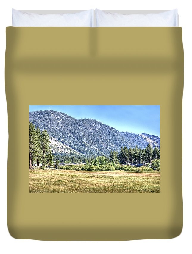 Mountain Duvet Cover featuring the photograph Peace At Kahle Park by Diego Re
