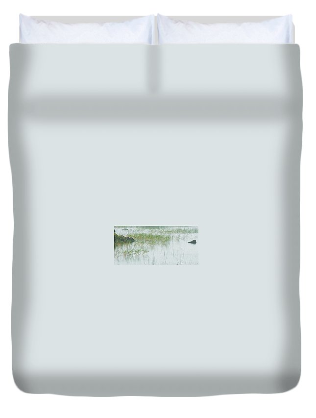 Duvet Cover featuring the photograph Peaceful Pond by David Resnikoff