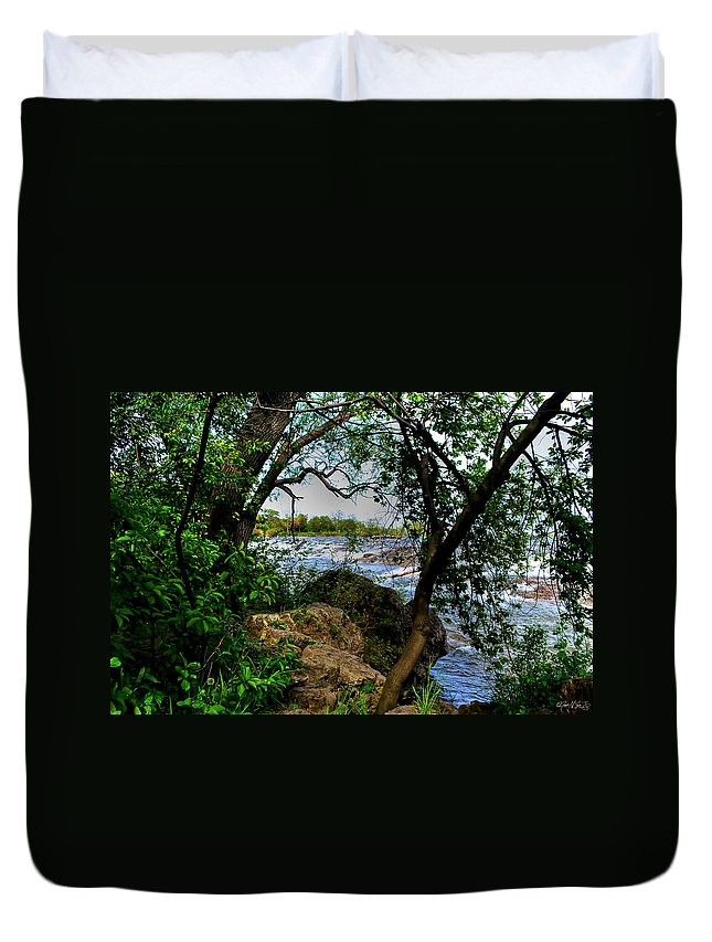 Duvet Cover featuring the photograph Peaking Through by Michael Frank Jr