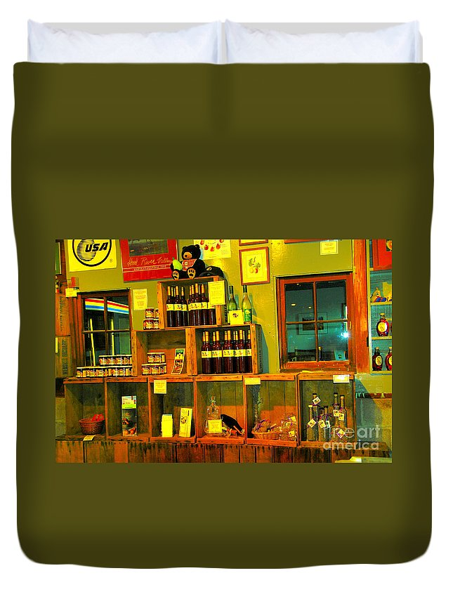 Wine Duvet Cover featuring the photograph Pear Wine And Jam by Jeff Swan