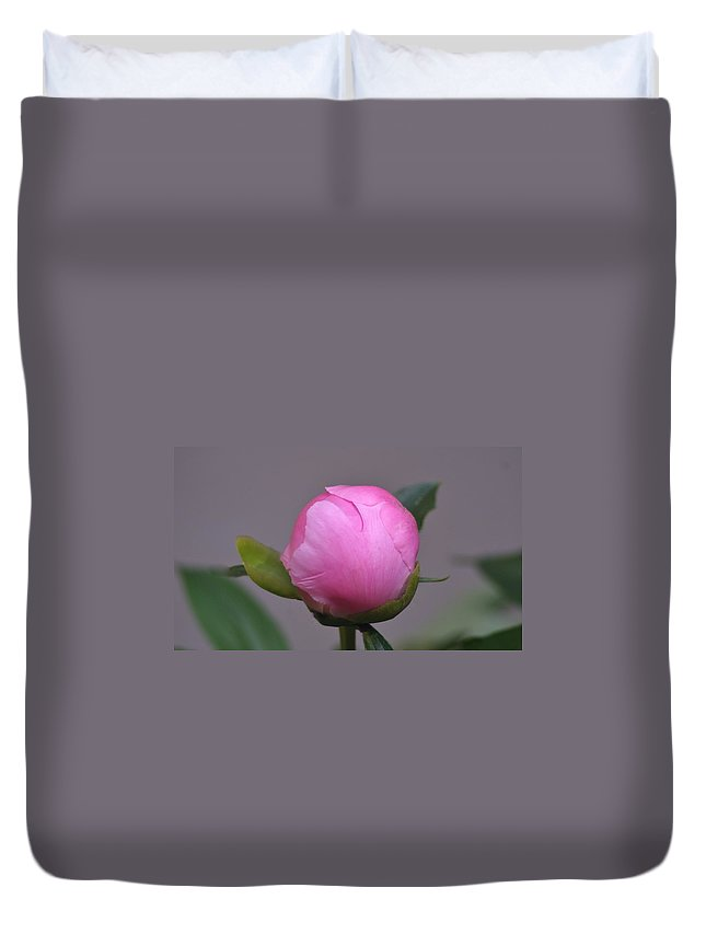 Duvet Cover featuring the photograph Peony Bud by Barbara S Nickerson