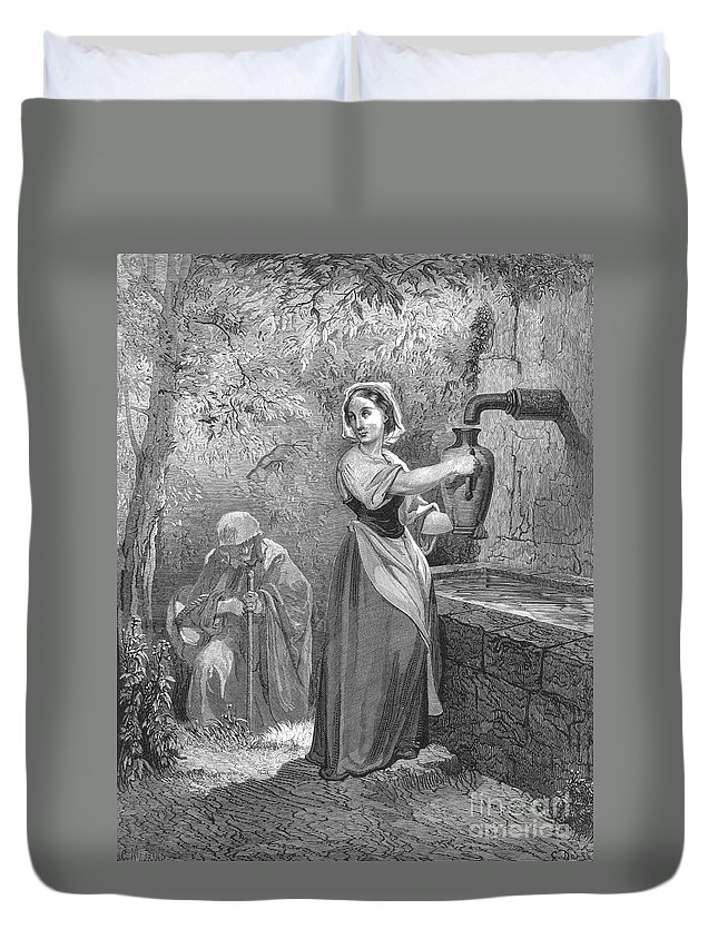 19th Century Duvet Cover featuring the photograph Perrault: The Fairies by Granger