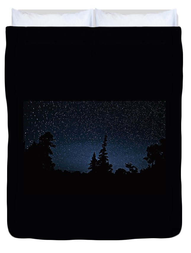 Galaxy Duvet Cover featuring the photograph Perspective by Steve Harrington