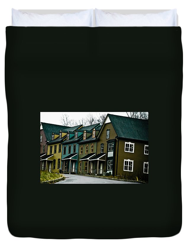 House Duvet Cover featuring the photograph Peter's Village by Trish Tritz